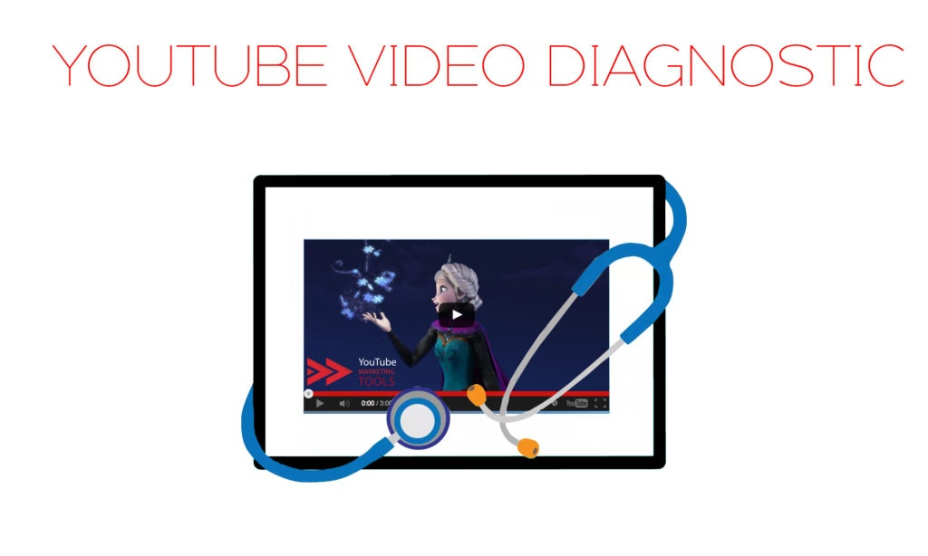 youtube marketing tools image of a video with a diagnostic chart on it