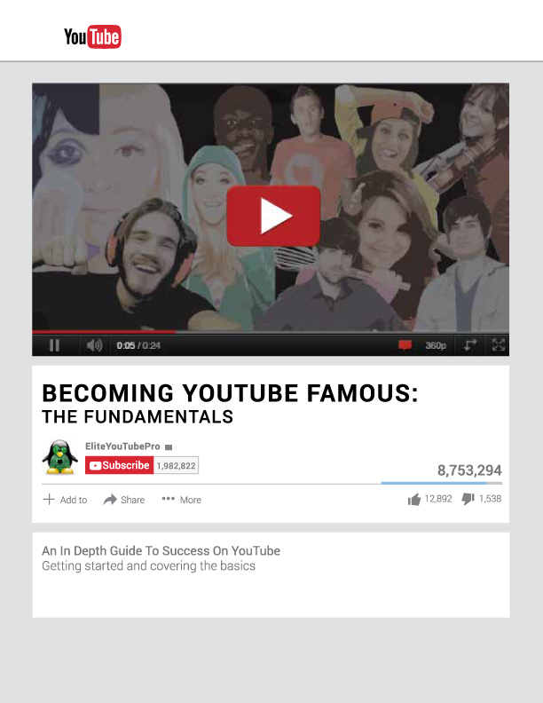 becoming youtube famous youtube marketing ebook cover